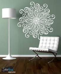 swirl designs vinyl wall decal sticker flower mandala 1567