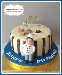 50th birthday cake for a chinese chef miniature chinese d u2026 flickr