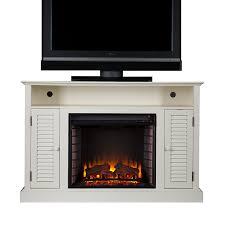 amazon com sei antebellum media console with electric fireplace