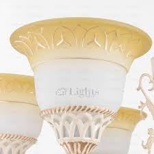 9 light glass shade shabby chic chandeliers