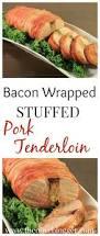 thanksgiving pork loin bacon wrapped stuffed pork tenderloin the olive blogger