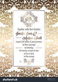 Wedding Invitation Card Template Vintage Baroque Style Wedding Invitation Card Stock Vector