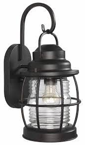 Hampton Bay Exterior Wall Lantern by Kenroy Home 90952gc Beacon Medium Wall Lantern Blackened Gilded
