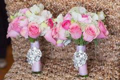Wedding Flowers Roses Bride With White Rose Wedding Bouquet Stock Photo Image 58506634