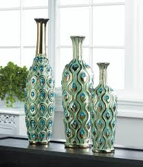 peacock long neck jewel vase u2013 just deco