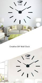 wholesale recommend quartz diy wall clock inch large quartz diy wall clock inch large watch best acrylic mirror metal stickers clocks home decoration
