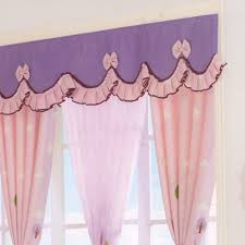 purple princess big window curtains