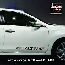 nissan altima coupe new jersey decal vinyl fits nissan altima 2 5 s sr midnight edition sv sl