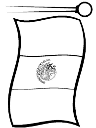 mexican flag coloring pages picture 3 printable mexico flag in