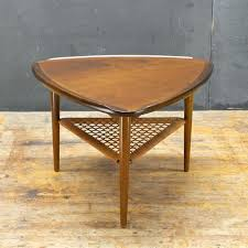 Triangle Accent Table Side Table Cane Coffee Tables Sydney Et412 Mid Century Square