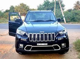 modified jeep 2017 mahindra tuv300 front modified to jeep cherokee