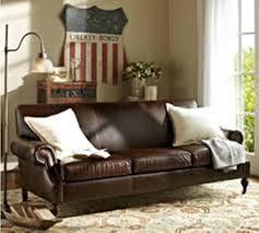 Leather Sofa Cushion Pottery Barn Leather Sofa Sleeper New Lighting