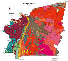 Map Of Idaho Cities Geologic Map Of Idaho County