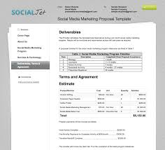 social media plan social media marketing contract template