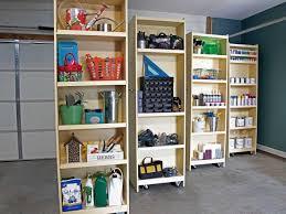 how to make storage cabinets diy rolling storage shelves for the garage hgtv