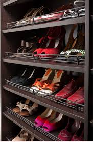 Closet Shoe Organizer Neatly Shoe Storage Units Integrated With Hanging Clothes