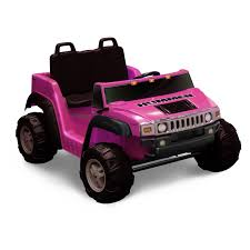 jeep power wheels for girls kid motorz two seater hummer h2 battery powered riding toy pink