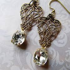 sterling earrings 1920s earrings wedding from nouveaudreams on
