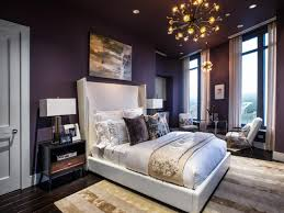 plush carpet brown wooden floor high grey upholstered headboard
