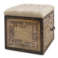 Enchanted Home Storage Ottoman Best 25 Industrial Ottomans And Cubes Ideas On Pinterest Retro