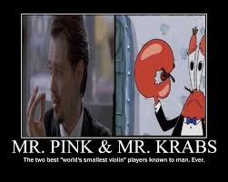 Smallest Violin Meme - mr pink mr krabs
