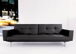 Leather Futon Sofa Oz Futon Sofa In Black