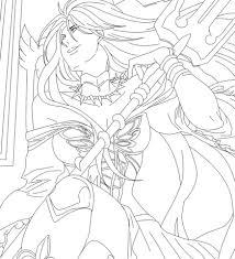 pandora saint seiya manga coloring free printable