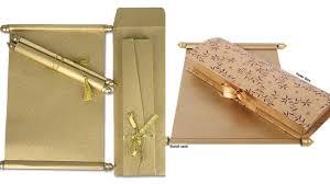 indian wedding invitations scrolls wedding invitation boxes india new scroll cards wedding invitation
