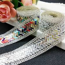 rhinestone cake rhinestone colorful trimming 1yard lot cake trim