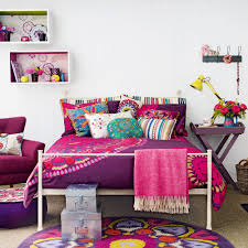 Peacock Colour Cushions Purple Bedroom Ideas Ideal Home