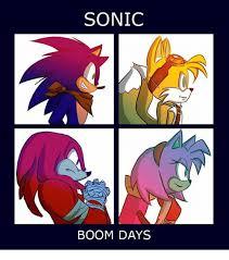 Sonic Boom Meme - sonic boom days sonic meme on me me