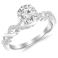 2 carat white gold engagement ring 2 carat classic prong set engagement ring with a 1 5 carat