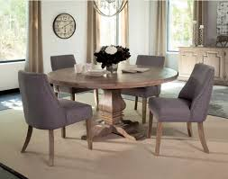 Coaster Dining Room Sets Rustic Smoke Wood Round Dining Table By Coaster