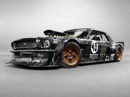 mustang modified 845hp 1965 ford mustang awd monster is ken block u0027s car for gymkhana 7