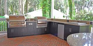 Outdoor Kitchen Cabinets Polymer Outdoor Kitchen Photo Gallery U0026 Yard Design Ideas Tampa Bay Area