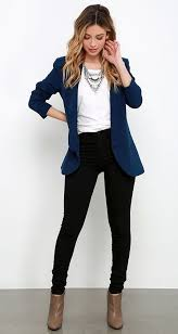 look pour le bureau 25 awesome casual office attire to try right now indigo blazer