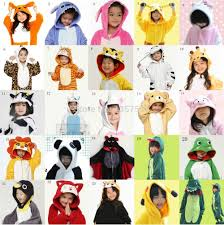 kids halloween cartoon children kids flannel animal pajamas anime cartoon costumes