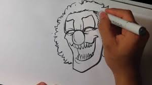 Drawing Of Halloween Drawing A Scary Clown Halloween Drawings Drawart Sketchbook