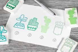 succulents stamp cactus stamp cute succulent rubber stamp plant