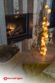 christmas fairy lights cotton ball lights