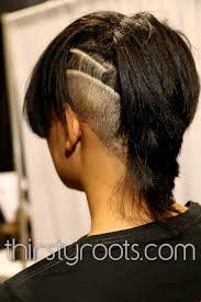Black Hairstyles With Shaved Sides Shaved Side Haircut Black Woman
