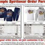 spirit wear order form template spirit wear order form