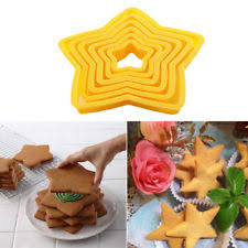 6pcs 3d christmas tree five pointed star cookies cutter baking