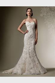 ivory lace wedding dress strapless fitted lace wedding dress naf dresses fitted lace