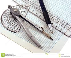 Writing On Graph Paper Geometry Set On Graph Paper Stock Photo Image 16700530