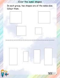 shapes u2013 ukg math worksheets