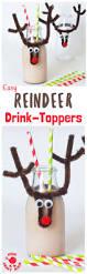 christmas reindeer bottle toppers kids craft room