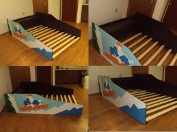 snowboard surfer or baseball themed kids full bed frame aftcra
