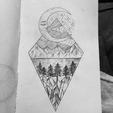tattoos sketch ideas drawing ideas black and white drawing moon