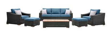 Patio Set 6 Chairs by New Boston 6 Piece Patio Set Sofa 2 Lounge Chairs 2 Ottomans